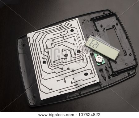 Calculator parts and Circuit Board