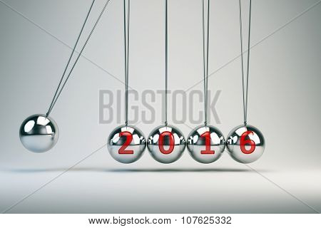 New Year 2016 - Balancing Balls Newton's Cradle