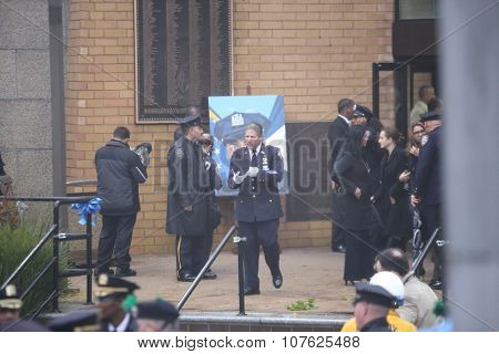 Funeral of NYPD detective Randolph Holder