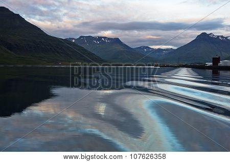 Detail of fjord coastline at Reidafjordur