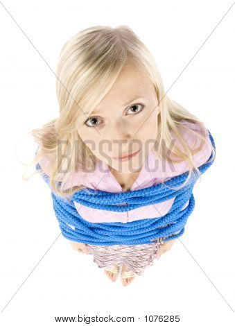 Corrupted By Rope Young Blonde Woman