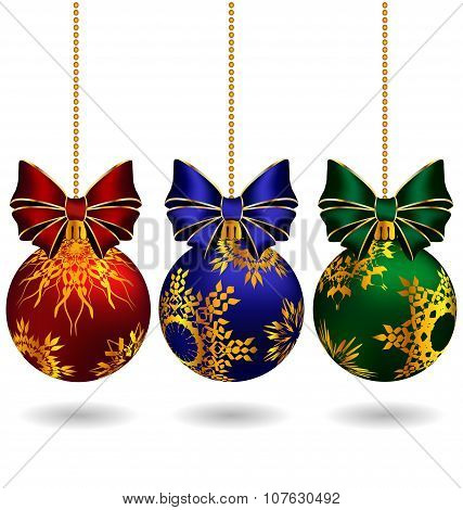 Christmas Balls With Bows