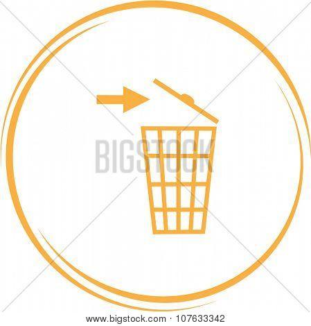 recycling bin. Internet button. Vector icon.