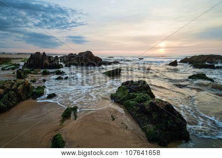 Sunrise On La Pedrera Beach