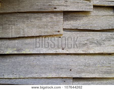 Old Wood Clapboard Siding On Abandoned House
