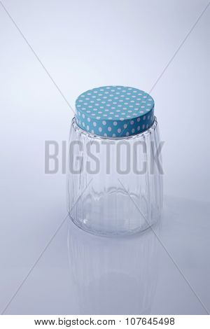 air tight jar on the white background