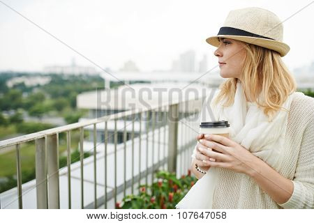 Enjoying city view