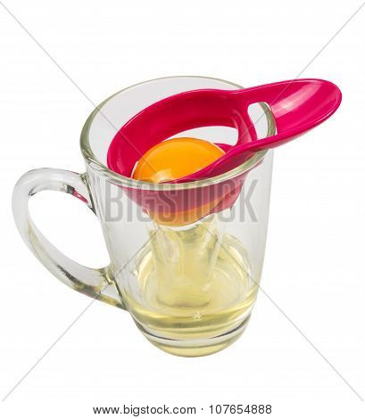 Separator Of A Chicken Yolk From Protein