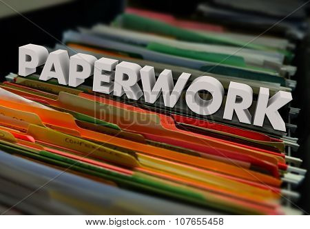 Paperwork in file folders inside a filing cabinet to illustrate a process of reviewing documents and forms