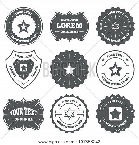 Star of David icons. Symbol of Israel.