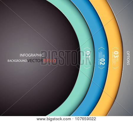 Vector Background, Circle Overlay Dimension Modern Line Bar Design For Text, Illustration Vector