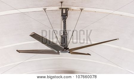 Electric Ceiling Fan On Background.