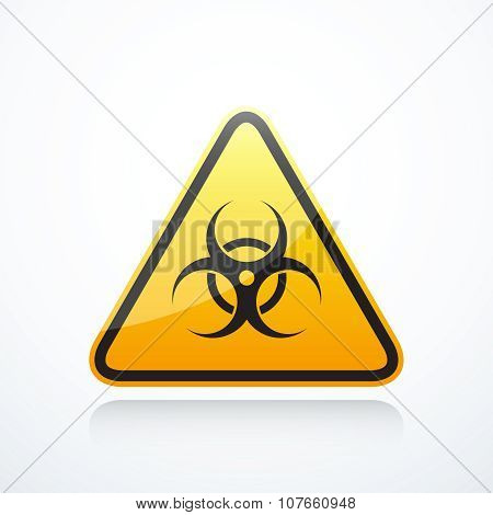 Biohazard triangle sign
