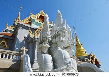 white king of Naga in Buddha church