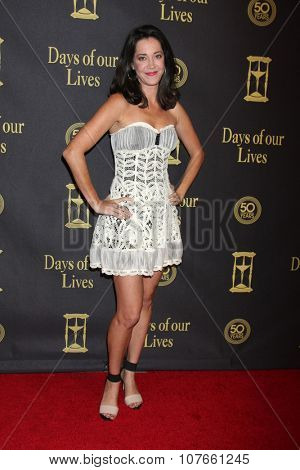 LOS ANGELES - NOV 7:  Heather Lindell at the Days of Our Lives 50th Anniversary Party at the Hollywood Palladium on November 7, 2015 in Los Angeles, CA