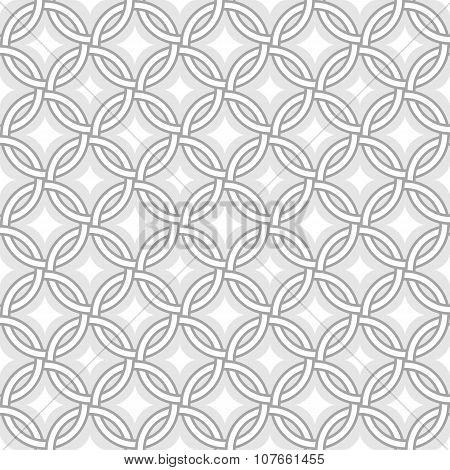 Retro Pattern - Lines, Circles And Diamond Stars