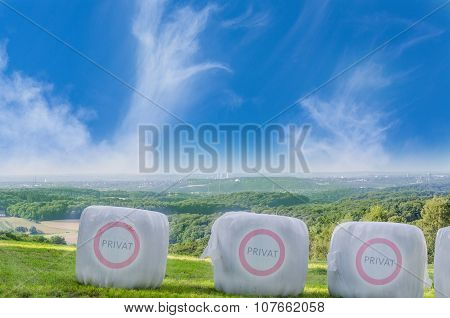 Straw Bales With Icon Private