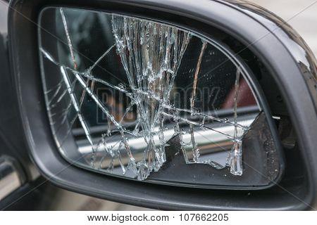 Broken Car Side Mirrors