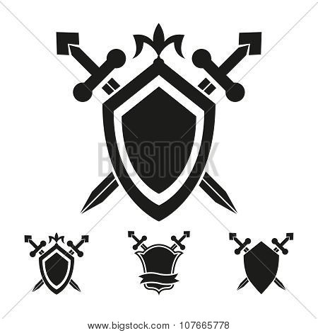 Coat of arms knight shield templates