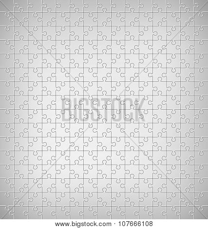 Jigsaw Puzzle Pattern On Grayscale
