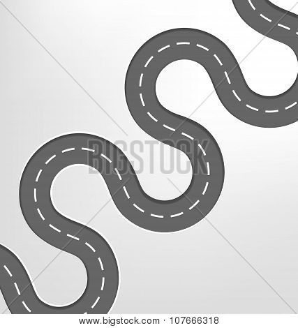 Curved Road Travel Background