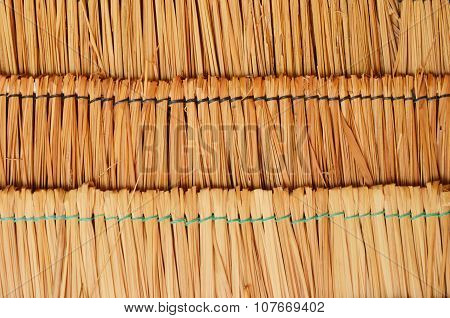 roof made from dry bamboo leaf