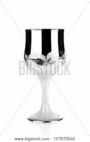 Wedding Silver Glass Or Cup Isolated On White