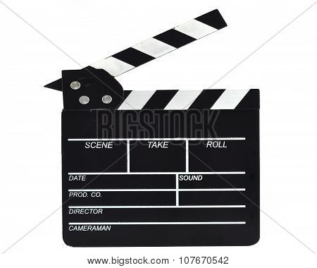 Film Slate, Isolated On White, With Clipping Path