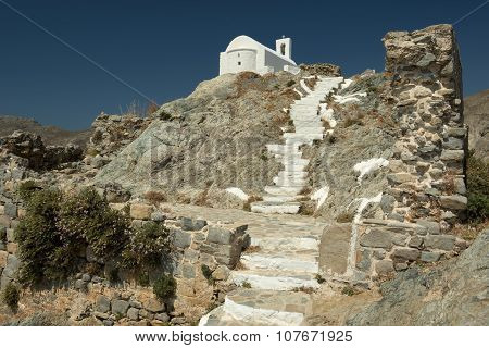 Typical White Church In Serifos Island