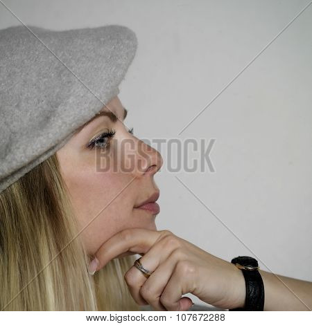 Woman With Distant Gaze
