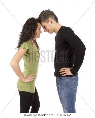 Confrontation - Young Standing Couple
