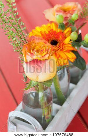 Fresh Flowers In Little Bottles