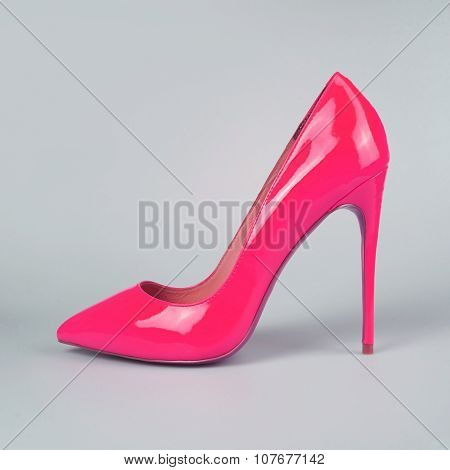 Pair Of High Heel Stiletto Pink Shoes