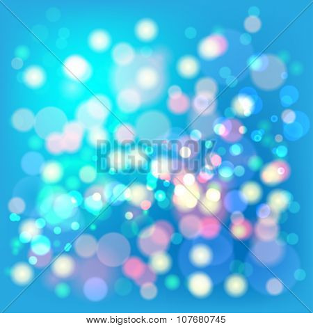 Lights Boke Blur Background. Illustration