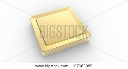 Empty Gold Square Button