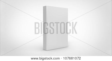 White Book Cover Isolated On Plain Background