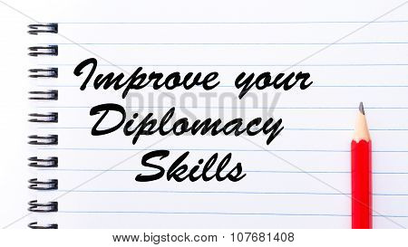 Improve Your Diplomacy Skills