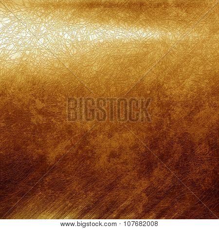 Golden metal texture for background
