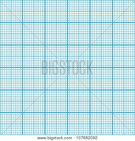 Graph paper cyan color, seamless pattern