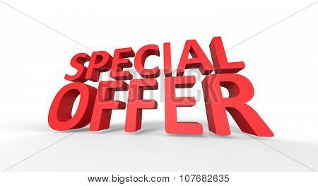 Sale Concept 3D Special Offer Red Text