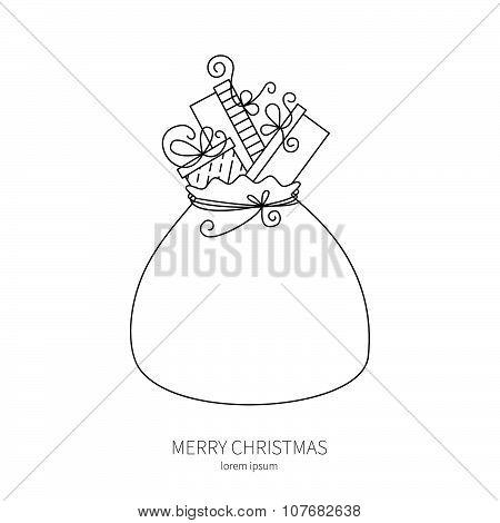 Big Santa sack full of gifts