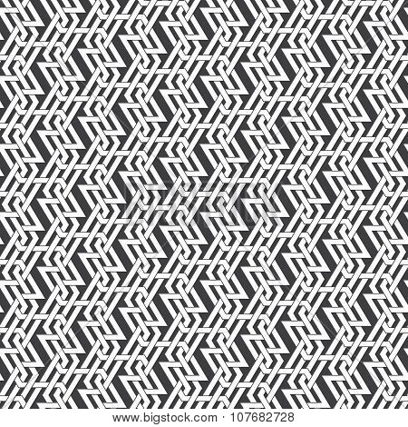 Seamless pattern of intersecting braided strips.