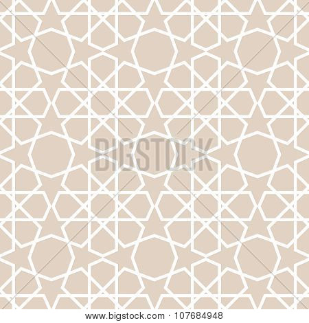 Arabic pattern. Seamless vector background.