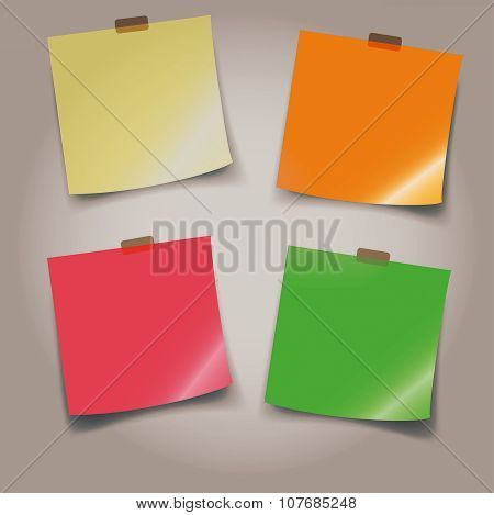 Adhesive Note Paper, Colorful Background