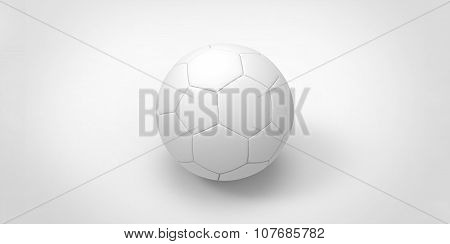 White Soccer Ball Isolated On White. Football Ball
