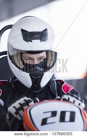 Gokart Pilot Ready For Race