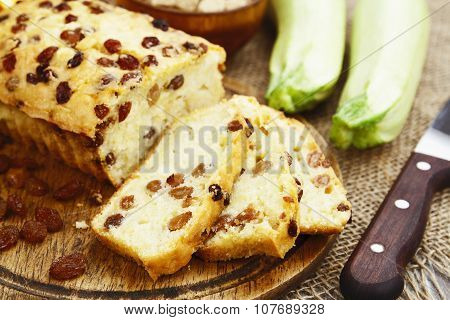 Zucchini Cake With Raisins