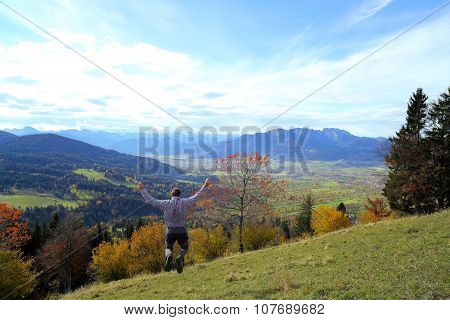 Man Is Jumping In Air