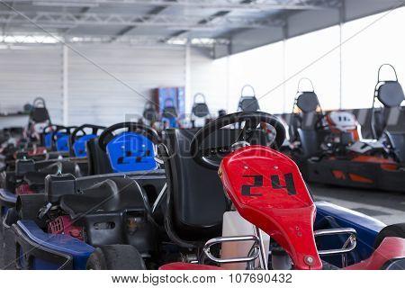 Row Go-kart On The Parking
