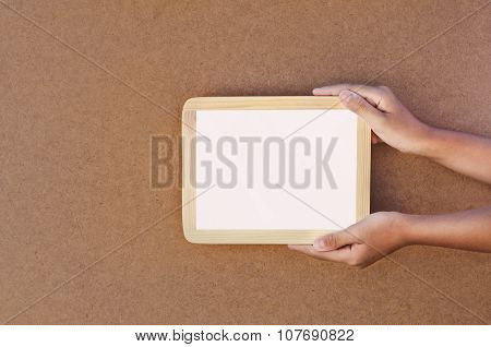 Hand Hold Fram Background Texture